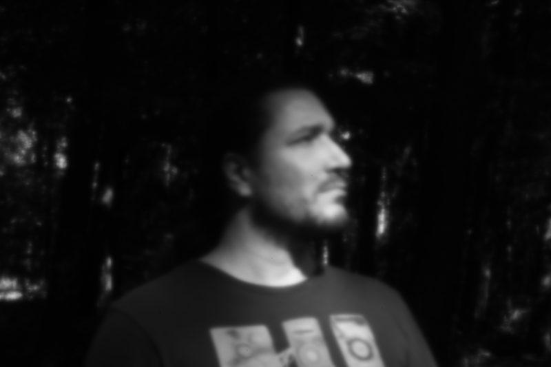 Self portrait with pinhole lens