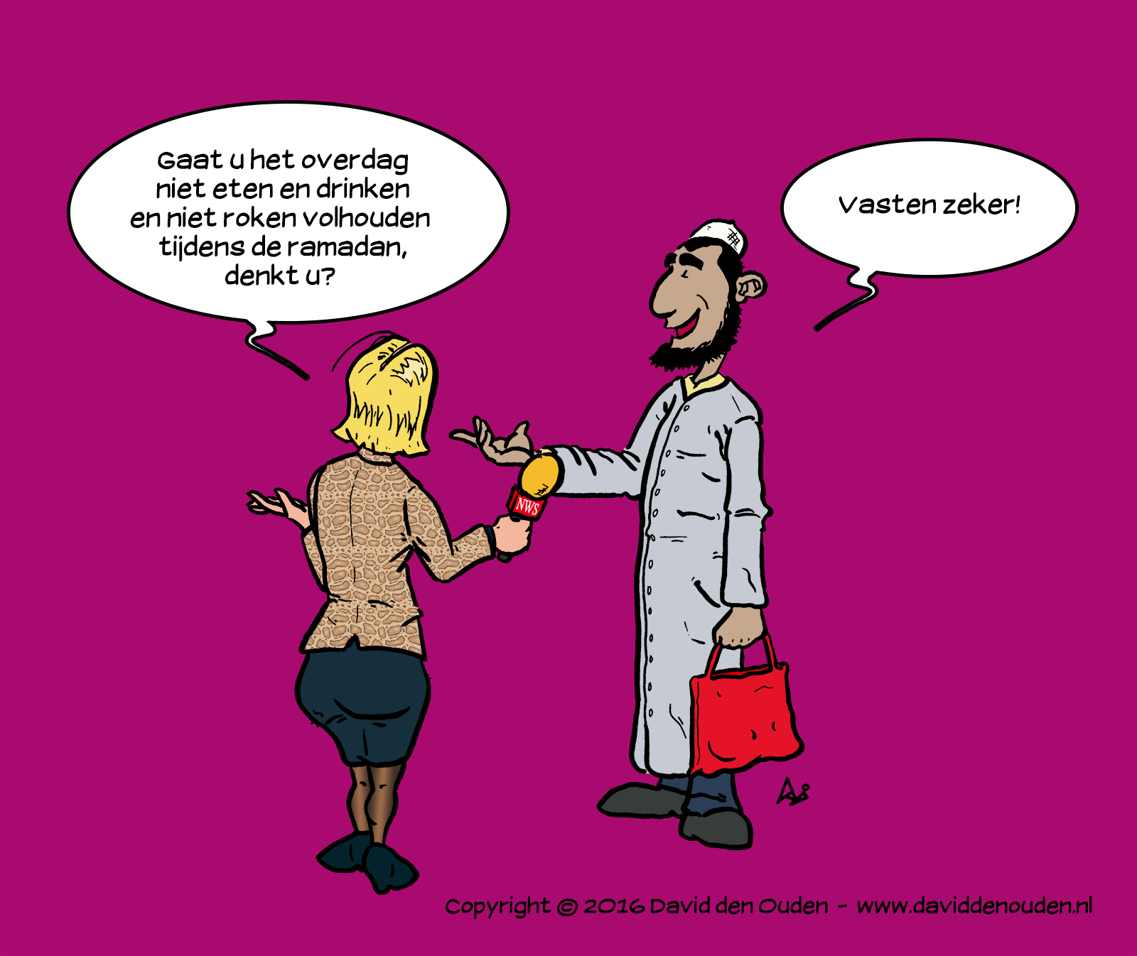 Cartoon: Ramadan - vasten zeker