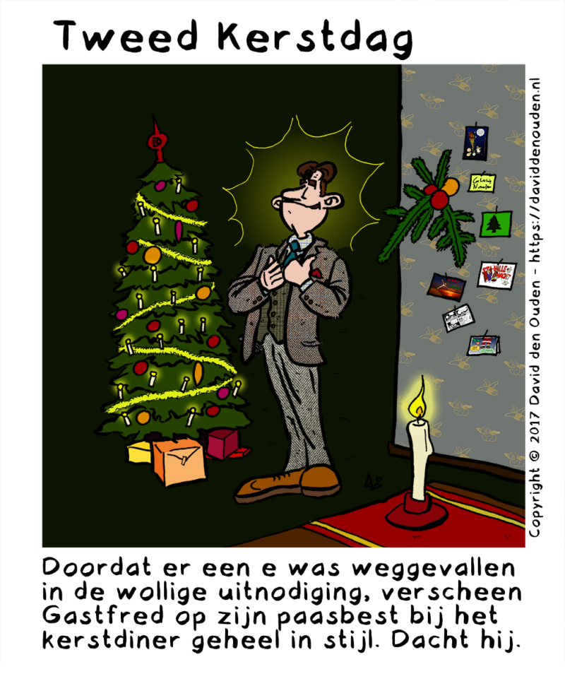 Cartoon: Tweed Kerstdag