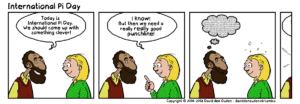 International Pi Day comic strip