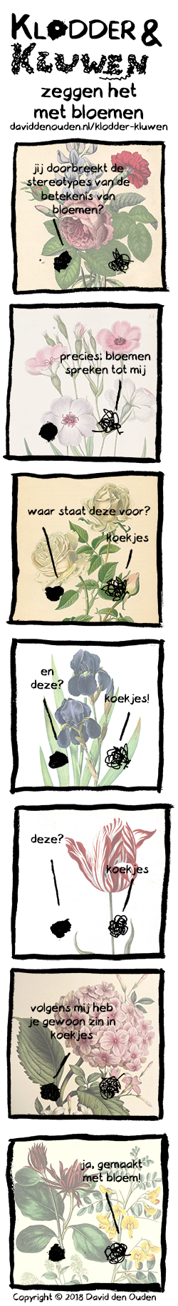 Klodder en Kluwen strip 14 bloemen