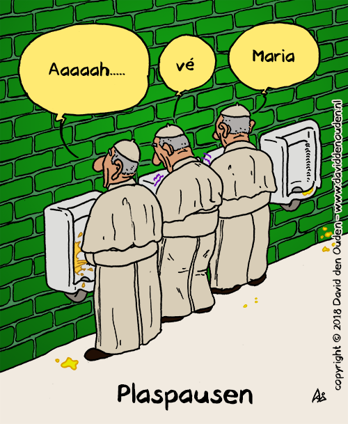 "Paus 1: ""Aaaaah..."" Paus 2: ""vé"" Paus 3: ""Maria""  Plaspausen"