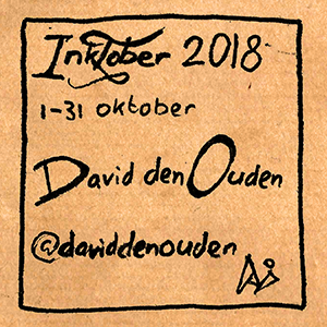 Inktober 2018 1-31 oktober David den Ouden @daviddenouden