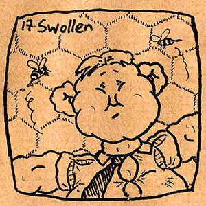 17. Swollen