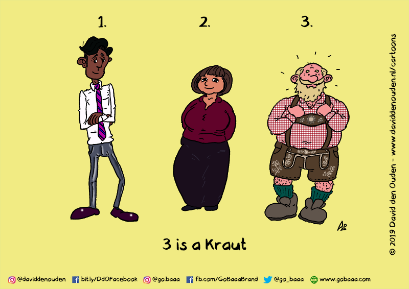1. 2. 3.  3 is a Kraut