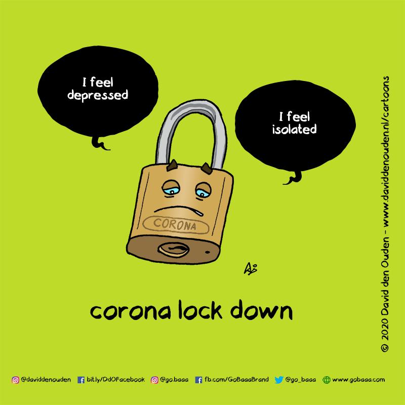 """I feel depressed"" ""I feel isolated"" corona lock down"
