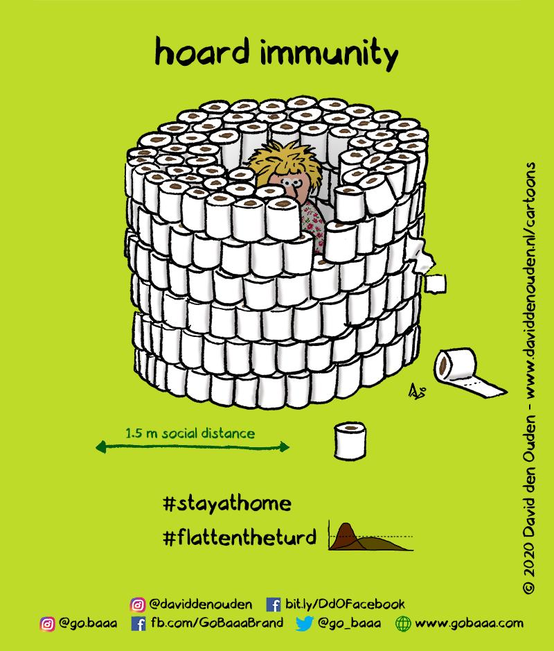 hoard immunity  1.5 m social distance  #stayathome #flattentheturd