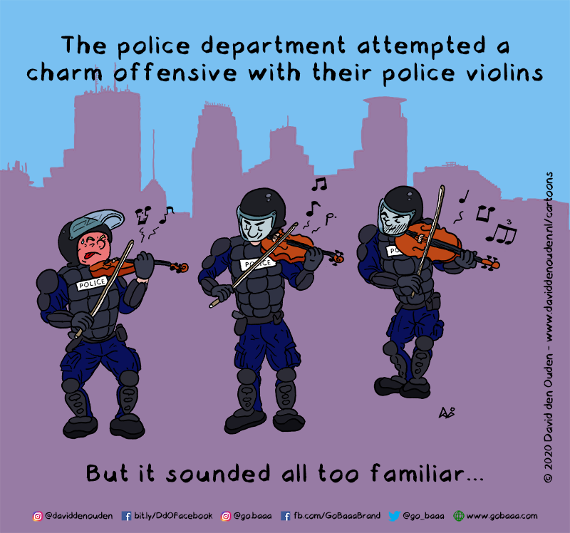 The police department attempted a charm offensive with their police violins But it sounded all too familiar...
