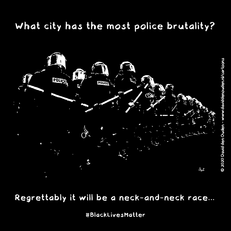 What city has the most police brutality?  Regrettably it will be a neck-and-neck race...  #BlackLivesMatter