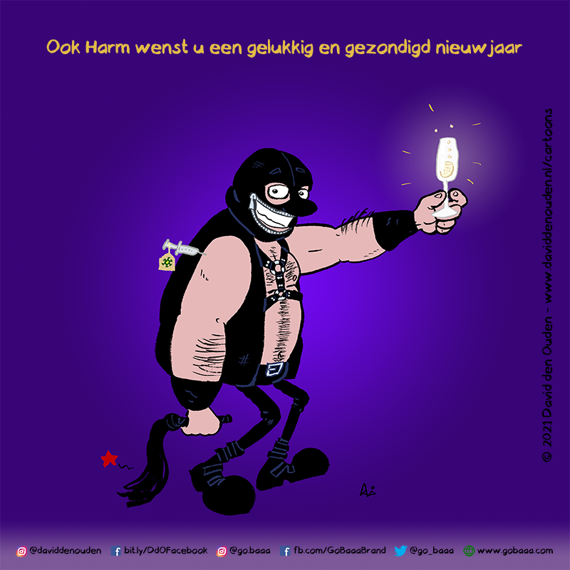 Ook Harm wenst u een gelukkig en gezondigd nieuwjaar